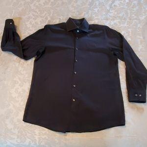 Mens black hugo boss button down shirt